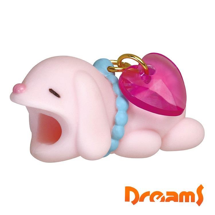 Dreams iphone專用咬線器 可愛動物園 兔