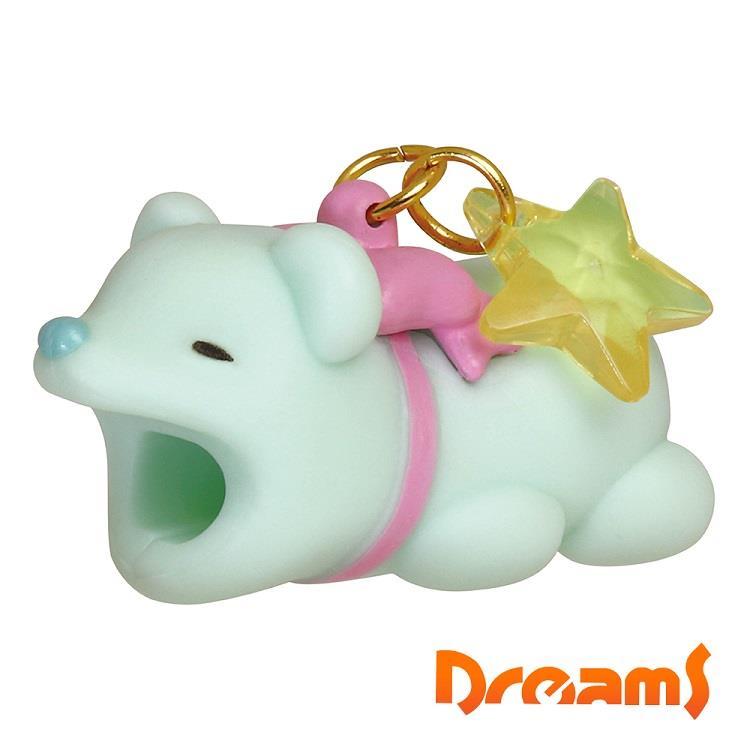 Dreams iphone專用咬線器 可愛動物園 熊