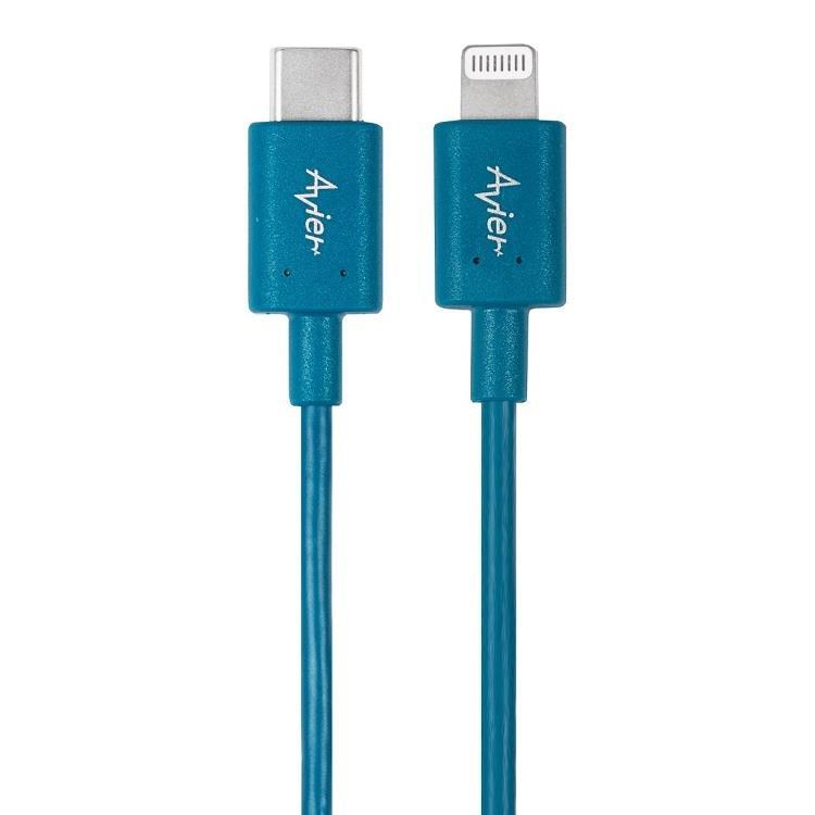 【Avier】STONE Lightning-Type C高速充電傳輸線_1M 藍