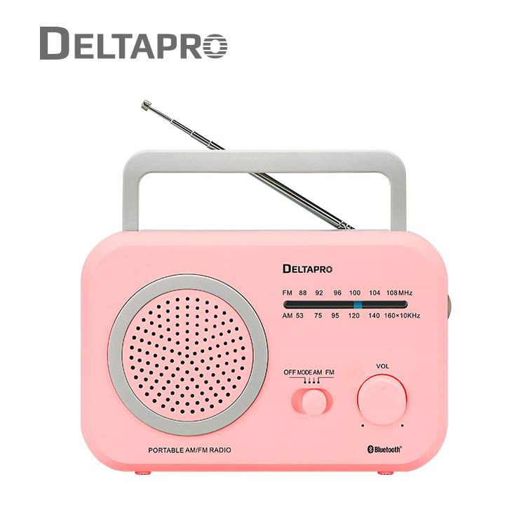 DELTAPRO復古藍芽音響 粉_R-861BT