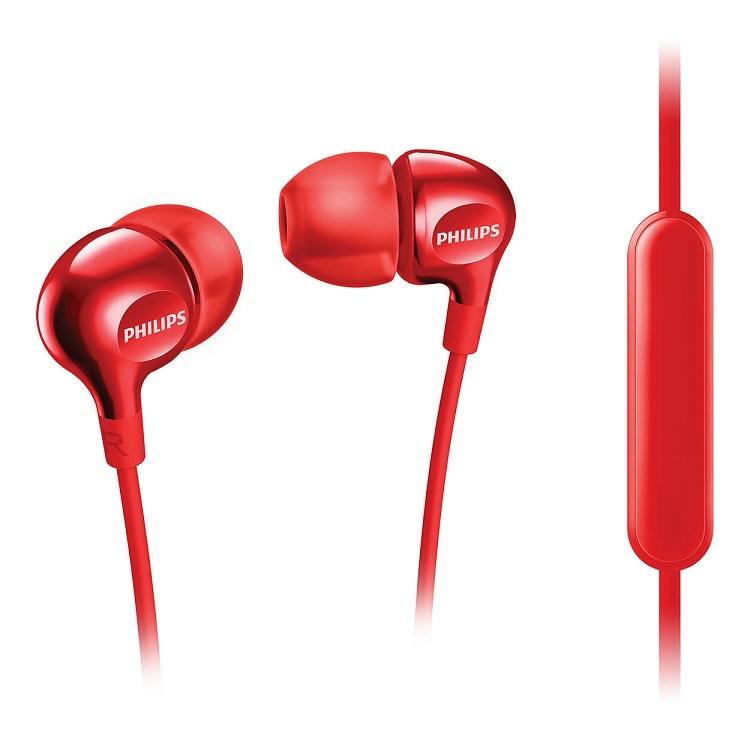 飛利浦 PHILIPS 重低音耳機麥克風-紅 SHE3705RD