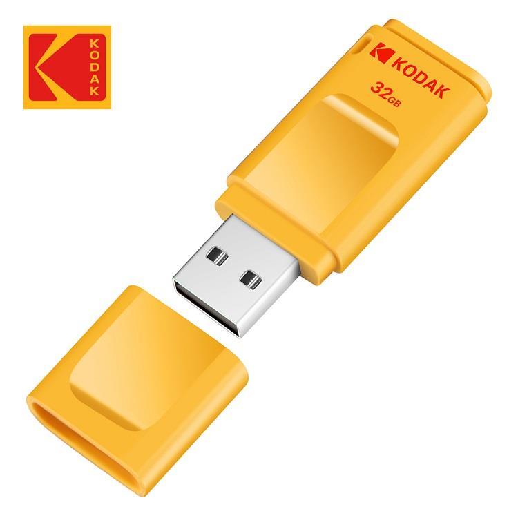 Kodak USB2.0 K232 32GB 帽蓋式随身碟(黃)