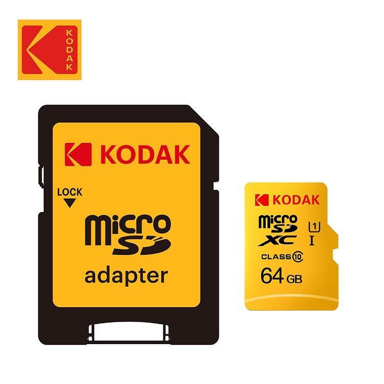 Kodak 64GB UHS-I U1 TF(MicroSD) 記憶卡+轉接器