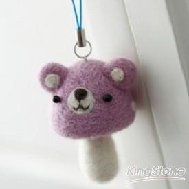 蘑菇熊吊飾(紫色)