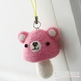 蘑菇熊吊飾(粉紅色)