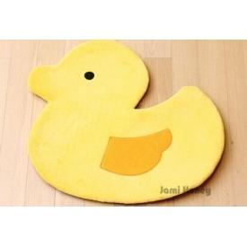 黃小鴨防滑絨毛腳踏墊小地毯