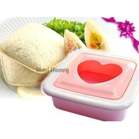 粉紅愛心早餐口袋三明治模具
