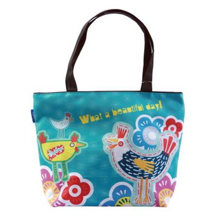 【COPLAY設計包】早安-公雞 綠  托特包