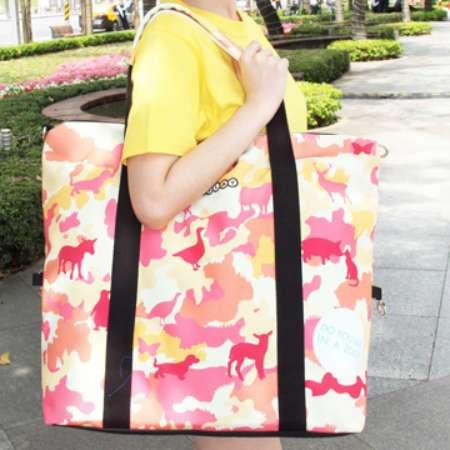 【COPLAY設計包】迷彩動物園(橘) 旅行袋