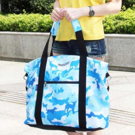 【COPLAY設計包】迷彩動物園(藍) 旅行袋