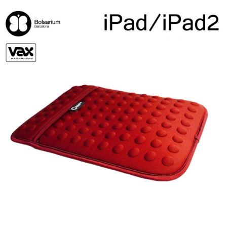 豆豆包長天鵝絨防震包iPad/iPad2專用-紅色