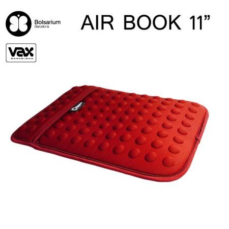 豆豆包長天鵝絨防震包MacBook Air 11吋專用-紅色