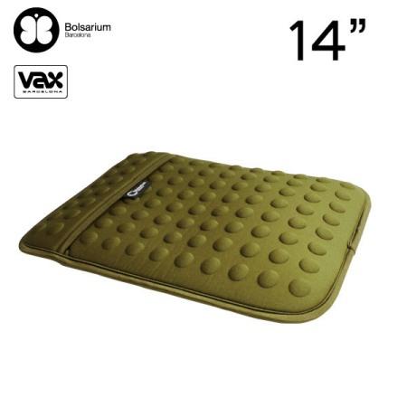 VAX BOLSARIUM 豆豆包長天鵝絨防震包14吋-綠色
