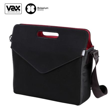 VAX 圖塞特訊息筆電公事包13.5吋-黑色+紅內裡