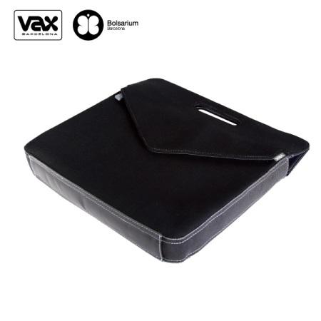 VAX 圖塞特悠便筆電公事包15.4吋-黑色+灰內裡