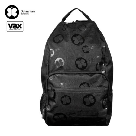 VAX BOLSARIUM 卡威特手提後背二用包-黑色+黑邊條