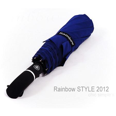 RS-Teflon_大型48吋超潑水自動傘-防風傘/丈青