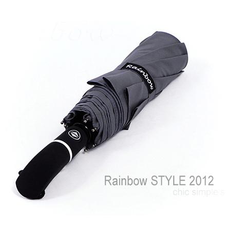 RS-Teflon_大型48吋超潑水自動傘-防風傘/俐落灰