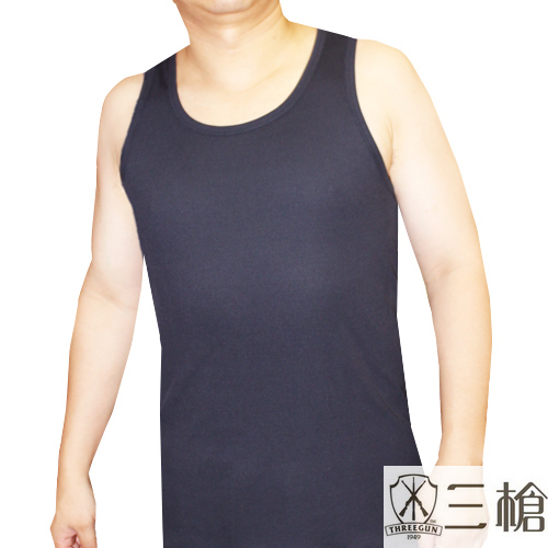 【三槍牌】時尚經典排汗速乾型男彩色羅紋背心~3件組(XL)