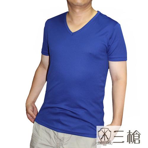 【三槍牌】3件組~時尚經典排汗速乾型男E棉V領短袖(L)