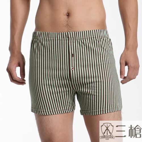 【三槍牌】純棉針織平口褲~3件組(隨機取色)(XL)