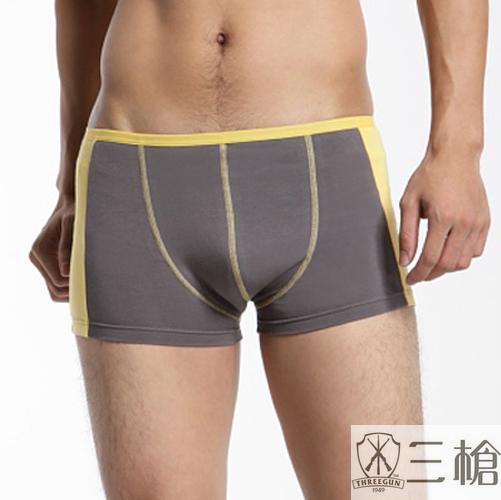 【三槍牌】時尚精典運動型男彈性平口褲~3件組(隨機取色)(L)