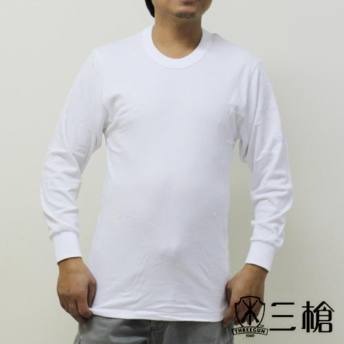 【三槍牌】精典時尚型男雙層純棉圓領長袖衛生衣~2件(L)