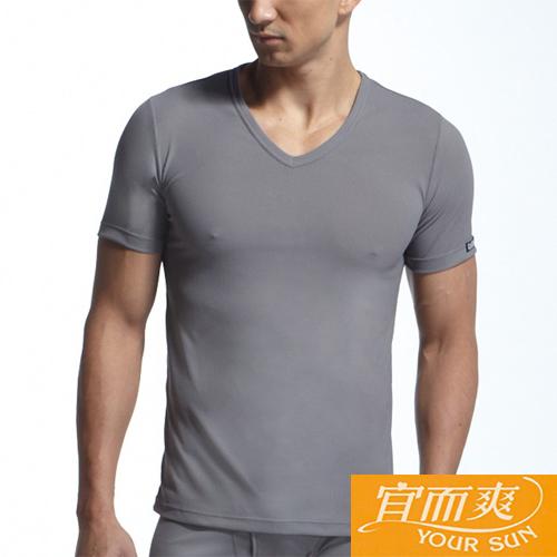 【宜而爽】時尚吸濕排汗速乾型男短袖衫~3件組(M)