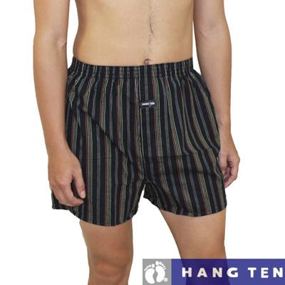 【HANG TEN】時尚純棉舒適型男平織平口褲~5件組 (隨機取色)