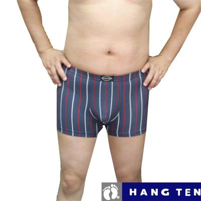 【HANG TEN】時尚竹纖維彈性條紋平口褲~4件組 (隨機取色)