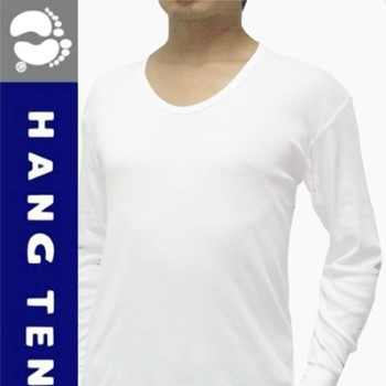 【HANG TEN】厚棉保暖時尚U領長袖衛生衣~3件組