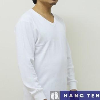 【HANG TEN】厚棉保暖時尚V領長袖衛生衣~3件組