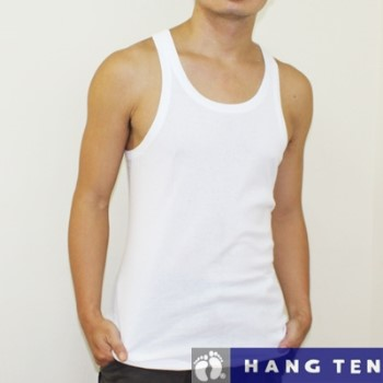 【HANG TEN】時尚天然純棉型男羅紋背心~5件組