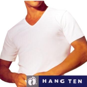 【HANG TEN】時尚純棉短袖V領內衣~5件組