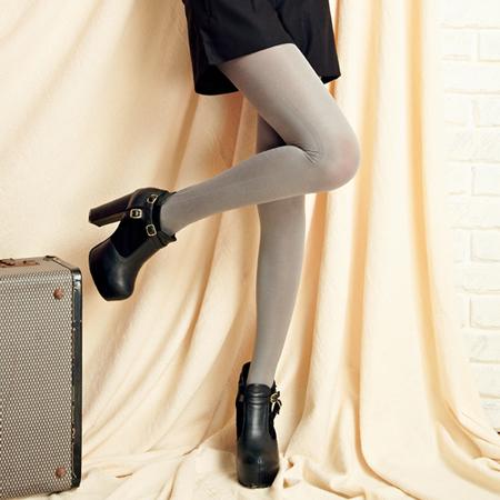 【美娜斯】200D金屬光澤激瘦感褲襪-淺灰