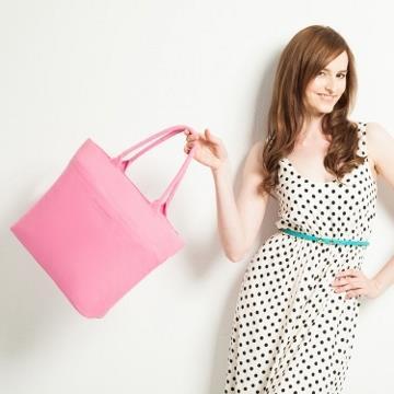 twinwow - 輕甜優雅 - 細緻質感手提包/旅行包-名媛粉