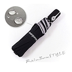 《RainBow》RB精品自動傘-日本超潑水機能/晴雨傘(黑)