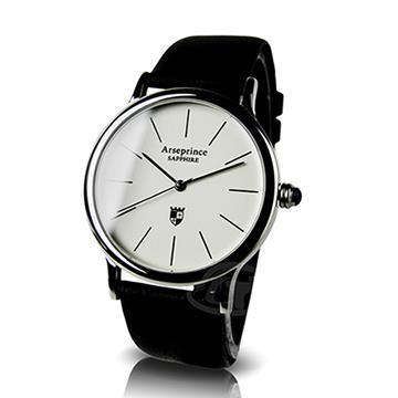 【Arseprince】分秒必針冷光男錶-黑色