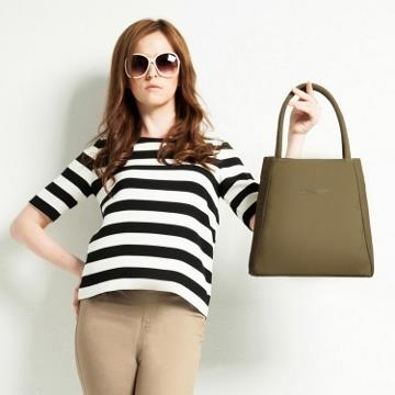 twinwow - T型魅力 - 細緻質感側背包-墨石綠