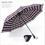 《RainBow》經典原裝-48吋加大央帶格紋自動傘(格紋D)