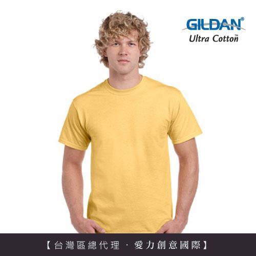 GILDAN 總代理100%美國棉~圓筒短袖素面TShirt~黃霧