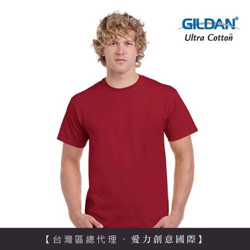 GILDAN 總代理100%美國棉~圓筒短袖素面TShirt~深紅