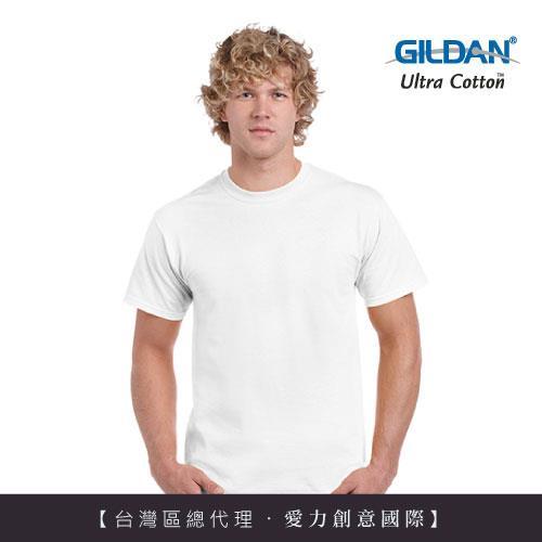 GILDAN 總代理100%美國棉~圓筒短袖素面TShirt ~白色