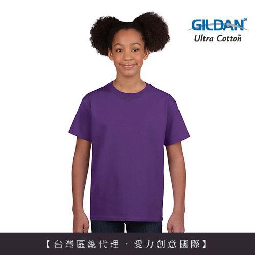 GILDAN 總代理100%美國棉~ 圓筒短袖素面童TShirt~紫