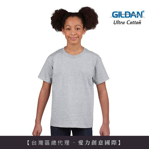 GILDAN 總代理100%美國棉~ 圓筒短袖素面童TShirt~中麻灰