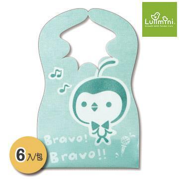 Lullmini Floret 嬰幼童拋棄型圍兜 - 樂企鵝 (6入)