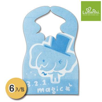 Lullmini Floret 嬰幼童拋棄型圍兜 - 魔術象 (6入)