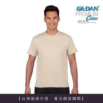 GILDAN 總代理-100%美國棉~亞規圓筒短袖素面Thirt ~卡其