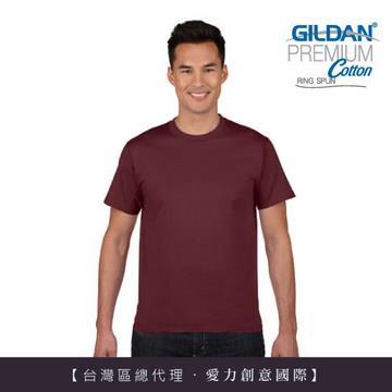 GILDAN 總代理-100%美國棉~亞規圓筒短袖素面Thirt ~棗紅