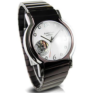 【Arseprince】城市旅人鏤空機芯中性錶-高雅咖x銀
